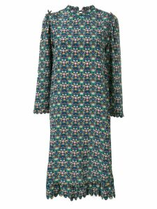 Horror Vacui all-over print dress - Blue