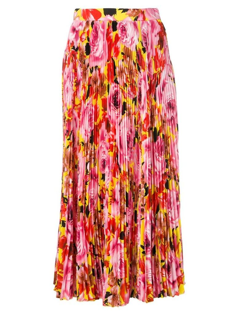 MSGM micro-pleated midi skirt - Pink