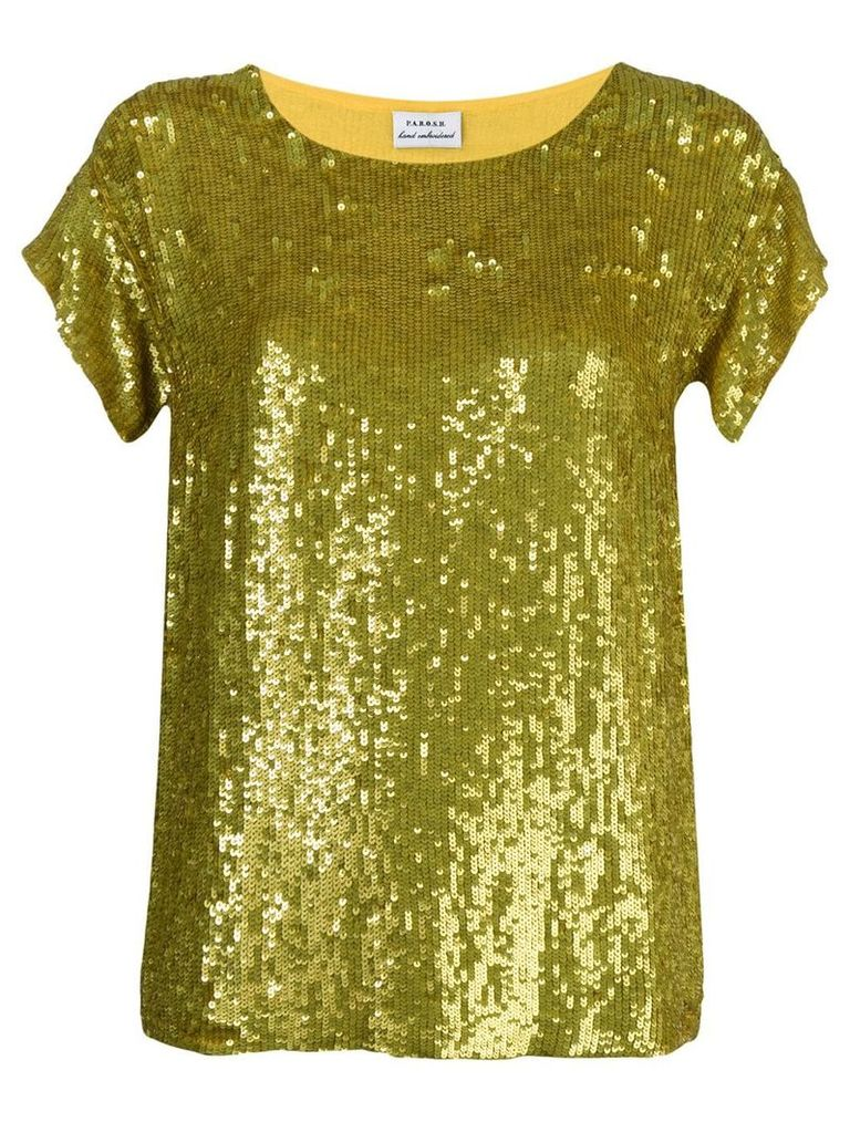 P.A.R.O.S.H. sequined top - Yellow