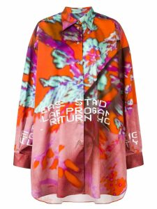 Maison Margiela abstract-print shirt - Orange
