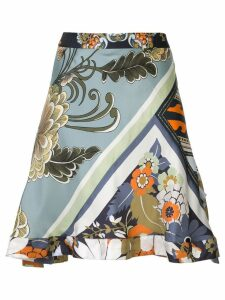 Chloé patchwork print skirt - Multicolour
