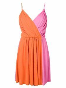 MSGM wrap style dress - Pink