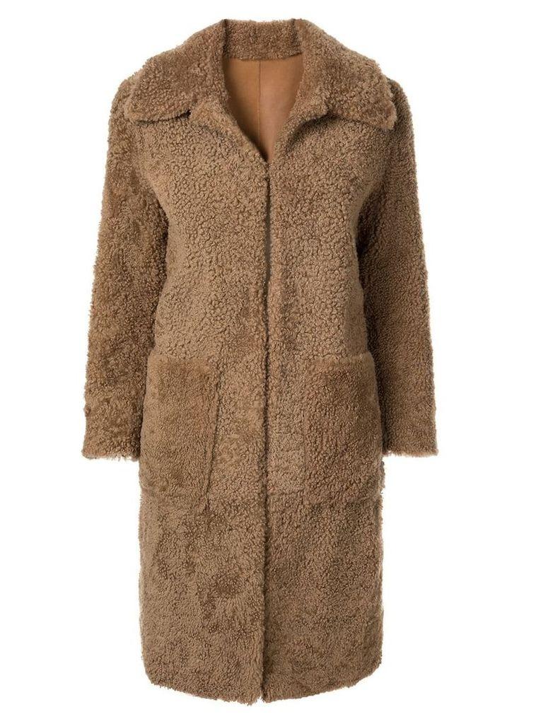Bassike shearling coat - Brown