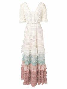 Jonathan Simkhai layered frill knitted dress - White
