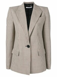 Givenchy checked single-breasted jacket - Brown