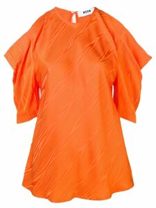 MSGM cut-out shoulder blouse - Orange