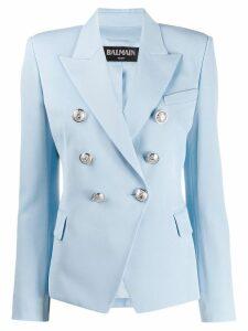 Balmain double breasted blazer - Blue