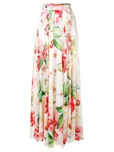 Philipp Plein floral print skirt - White