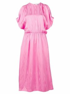 MSGM open shoulder midi dress - Pink
