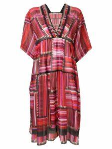 Mary Katrantzou pencil print dress - Red