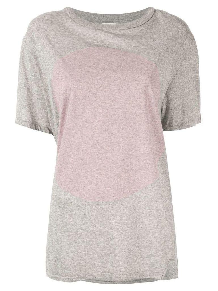 Bassike contrast print T-shirt - Grey