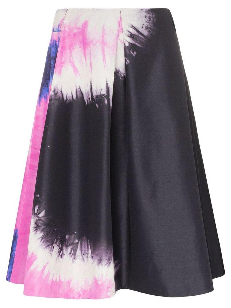 Prada tie-dye faille A-line skirt - Black