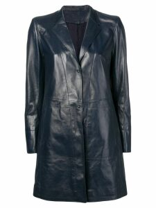 Sylvie Schimmel single-breasted coat - Blue