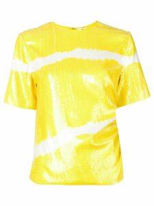 MSGM sequin T-shirt - Yellow