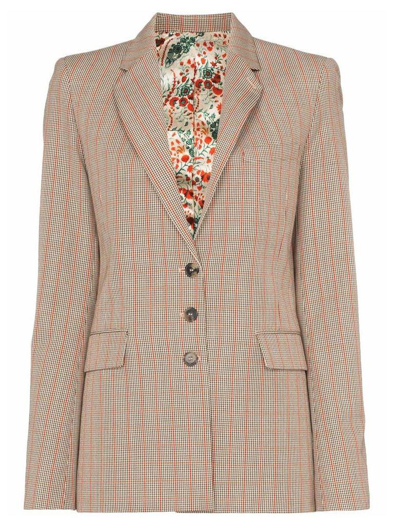 Paco Rabanne Heritage check blazer - Brown