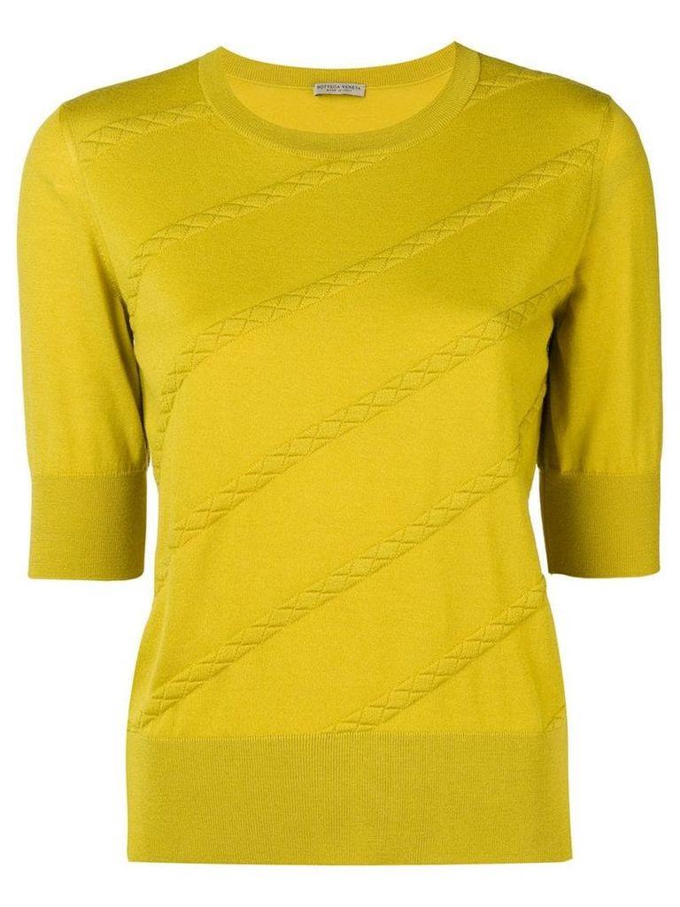 Bottega Veneta intrecciato stripe sweater - Yellow