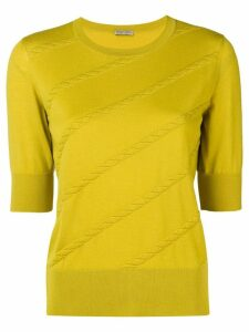 Bottega Veneta intrecciato stripe sweater - Yellow