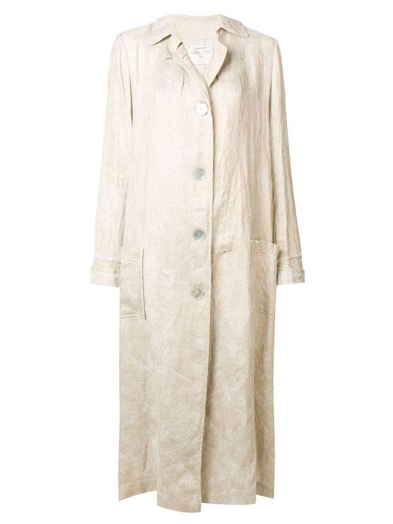 Forte Forte oversized coat - Neutrals