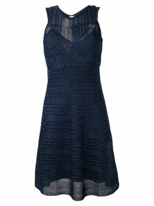 M Missoni patterned knit dress - Blue