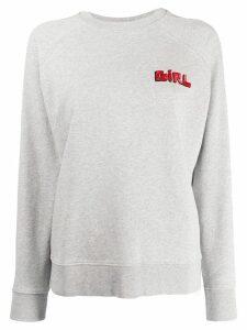 Bella Freud 'Girl' Slogan jersey sweater - Grey
