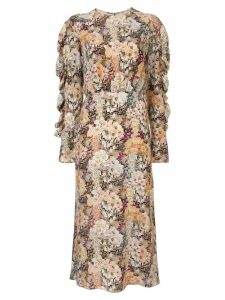 Les Reveries long floral print silk dress - Multicolour