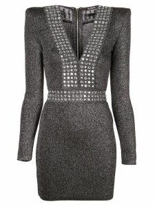 Balmain lurex fitted mini dress - Black