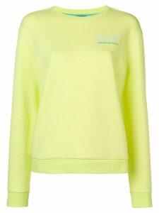 Ea7 Emporio Armani classic logo jersey sweater - Yellow
