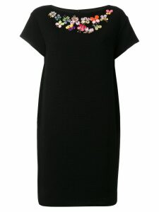 Boutique Moschino butterfly embellished dress - Black