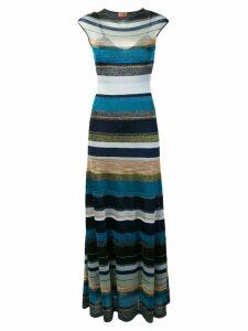 Missoni striped long dress - Blue