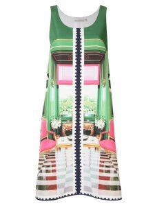 Mary Katrantzou stamp print A-line dress - Green