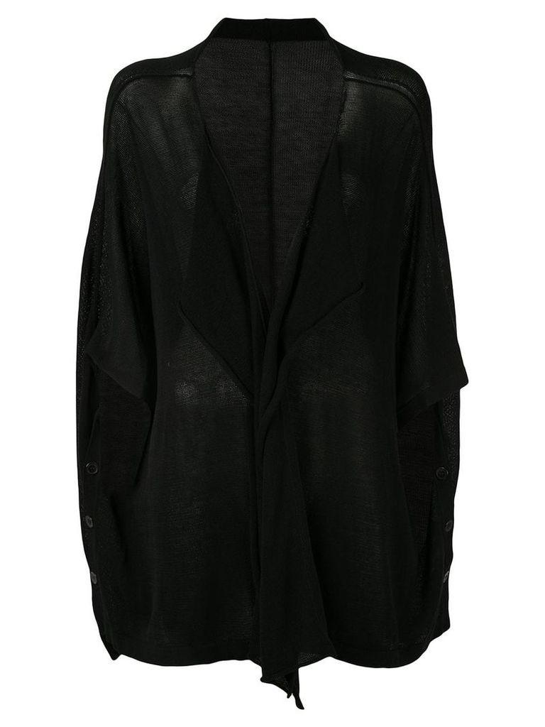 Y's draped cardigan - Black