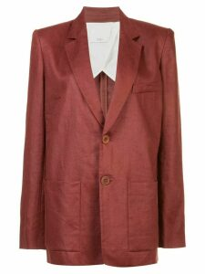 Tibi canvas long blazer - Red