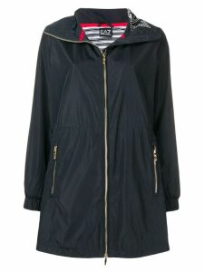 Ea7 Emporio Armani classic rain coat - Blue