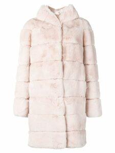 N.Peal hooded coat - Pink