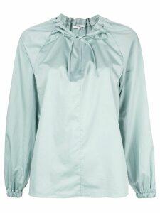 Tibi drawstring detail blouse - Green