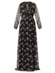 Giambattista Valli floral flared maxi dress - Black