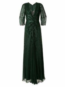 Jenny Packham embellished maxi dress - Green
