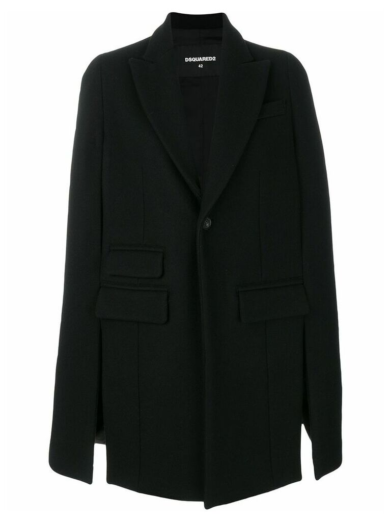 Dsquared2 cape coat - Black