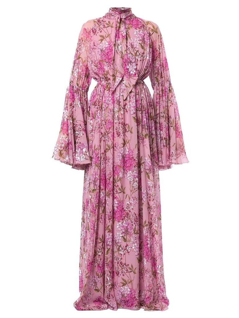 Giambattista Valli floral flared maxi dress - Pink