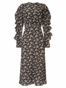 Les Reveries ruffled floral dress - Multicolour