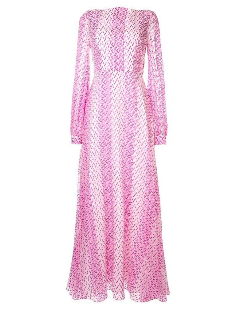 Safiyaa London magenta dress - White