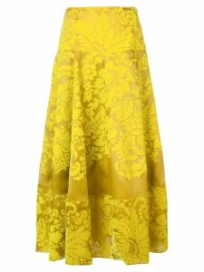 Rosie Assoulin floral print midi skirt - Yellow