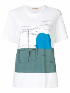 Nehera Galanda Chair Print T-Shirt - White