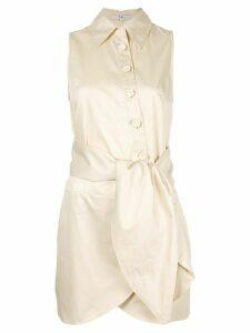 Tibi knot detail shirt dress - Yellow