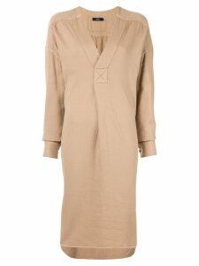 Bassike oversized long-sleeve dress - Brown