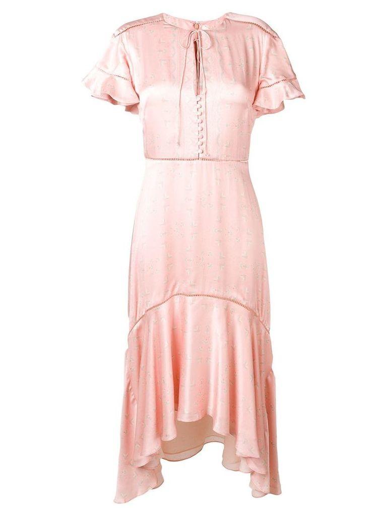 Jonathan Simkhai ruffle-trimmed asymmetric dress - Pink