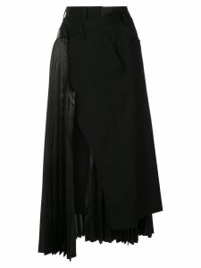 Junya Watanabe pleated asymmetric skirt - Black