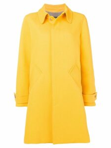 A.P.C. box pleat midi coat - Yellow