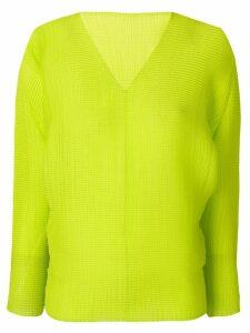 Issey Miyake ribbed classic pullover - Green