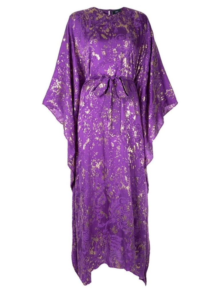 Taller Marmo printed kimono style dress - Purple